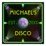 Customisable Home Bar 1970's Disco Ball Poster
