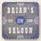 Customisable Home Bar Beer Saloon Coaster