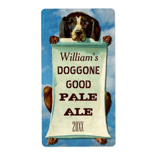 Customisable Home Beer Brewer: Vintage Dog Shipping Label