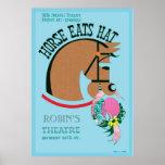 Customisable Horse Eats Hat Kids Poster