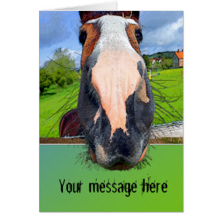 Customisable Horsey Greeting Card