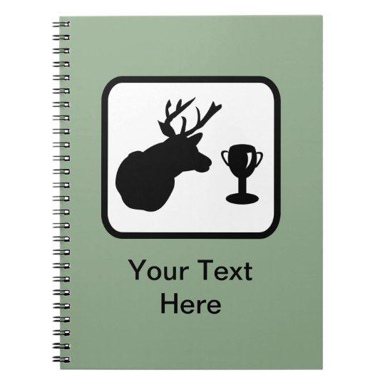 Customisable Hunter Logo Spiral Notebook