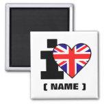 Customisable I Heart (Name) Fridge Magnet