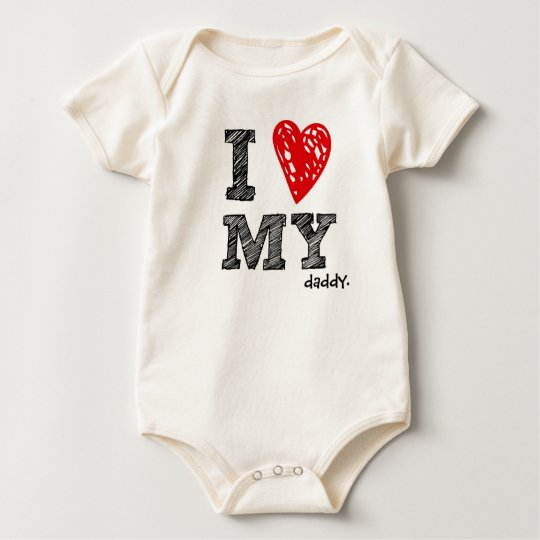 "Customisable ""I Love My ___ "" baby shirt"