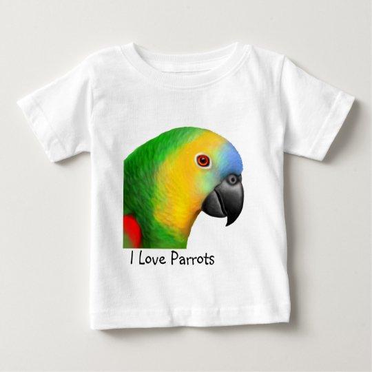 Customisable I Love Parrots Infant T-Shirt