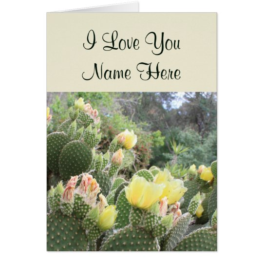 Customisable I Love You Cactus Note Card