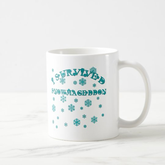 Customisable I SURVIVED SNOWMAGEDDON Coffee Mug