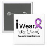 Customisable I Wear a Pancreatic Cancer Ribbon Badge