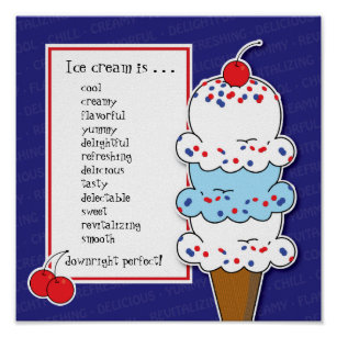 Customisable Ice Cream Cone Poster
