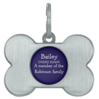 Customisable ID Pet Tag for Dogs: Blue