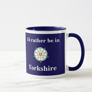 "Customisable ""I'd rather be in Yorkshire"" mug"