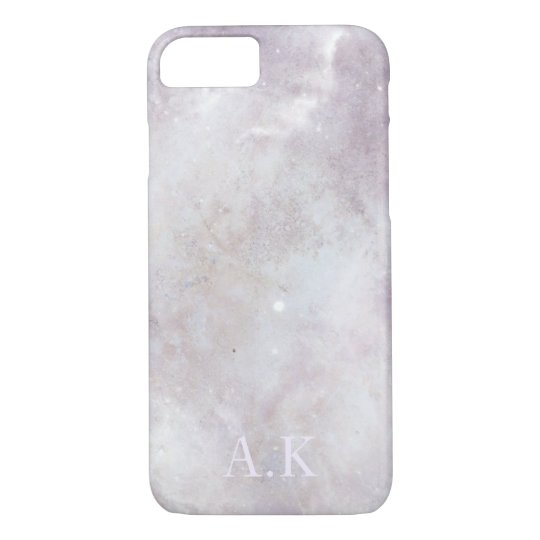 Customisable Initial Baby Pink Marble iPhone 7 Case