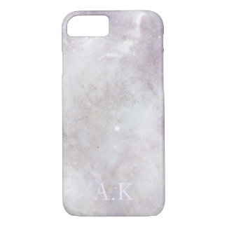 Customisable Initial Baby Pink Marble iPhone 8/7 Case