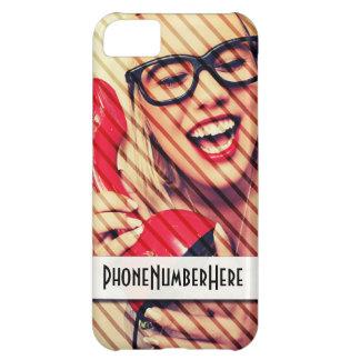 Customisable iPhone 5C Phone Number Case iPhone 5C Case