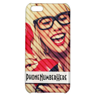 Customisable iPhone 5C Phone Number Case iPhone 5C Cover
