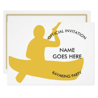 Customisable Kayaking Party Invitation