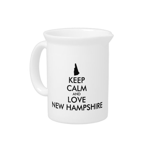 Customisable KEEP CALM and LOVE NEW HAMPSHIRE Pitcher