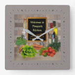 (Customisable) Kitchen Clock with your Name