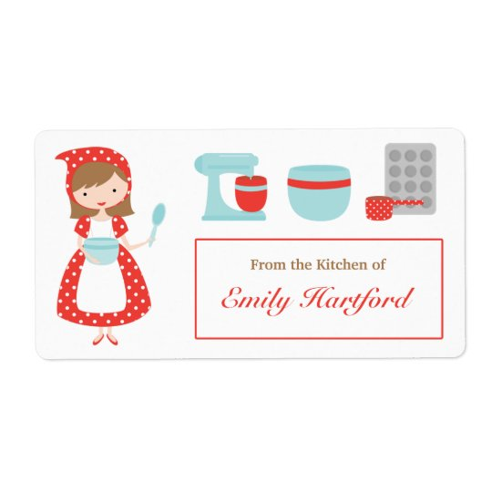 Customisable Kitchen Labels