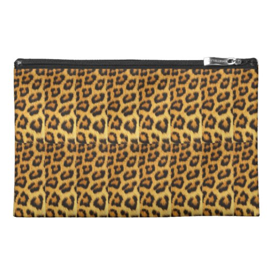 Customisable Leopard Print Cosmetic Bag/Clutch Travel Accessory