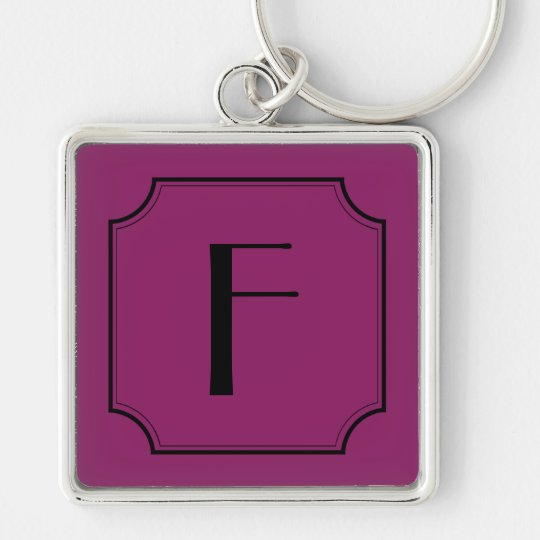 Customisable Letter Square Cut Corners Key Chain
