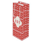 Customisable Lined Hearts Wine Gift Bag