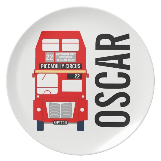 Customisable London Bus Melamine Plate