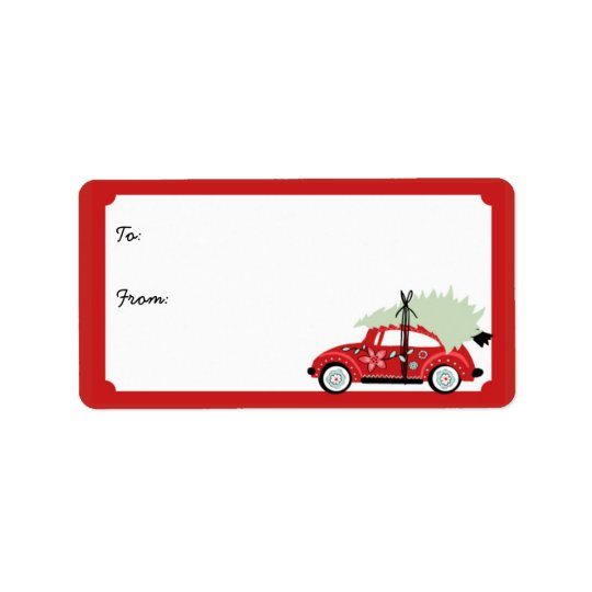 Customisable Love Bug Holiday Gift Labels