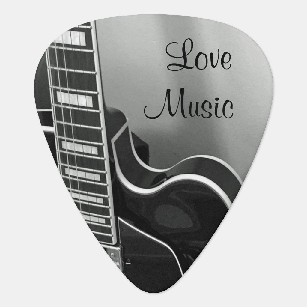 Customisable Love Music Guitar Pick