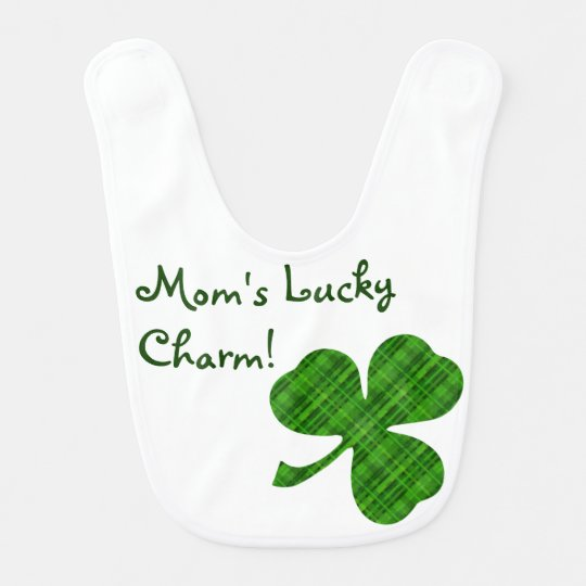 Customisable Lucky Charm Shamrock Baby Bib