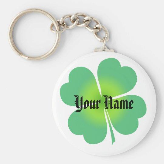 Customisable Lucky Four Leaf Clover Keychain