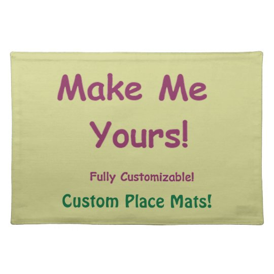 Customisable Machine Washable Table Decor Placemat