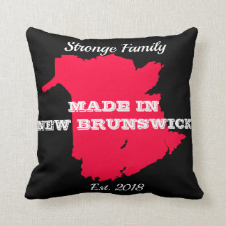 Customisable Made in New Brunswick Throw Pillow