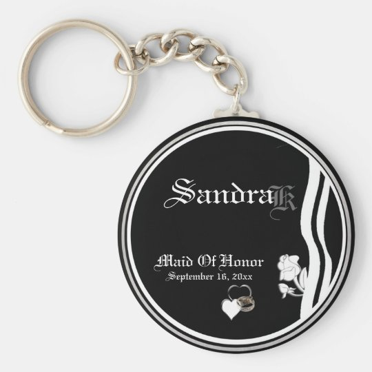 Customisable Maid Of Honour Keepsake Keychain