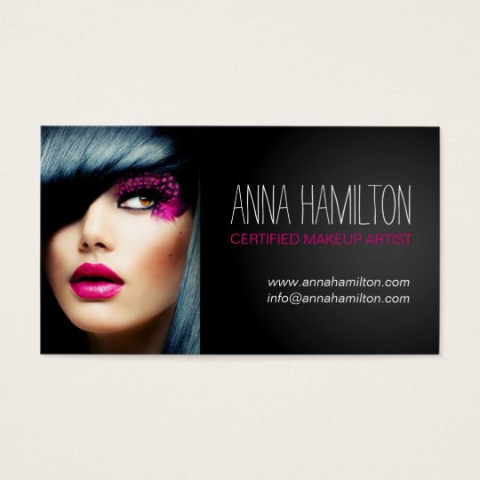 Customisable Makeup Artist Business Card