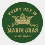 Customisable Mardi Gras Round Sticker