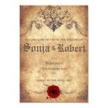 Customisable Mediaeval Fantasy wedding invitation