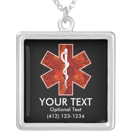 Customisable Medical   Necklace