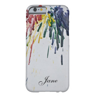 Customisable Melted Crayons Barely There iPhone 6 Case