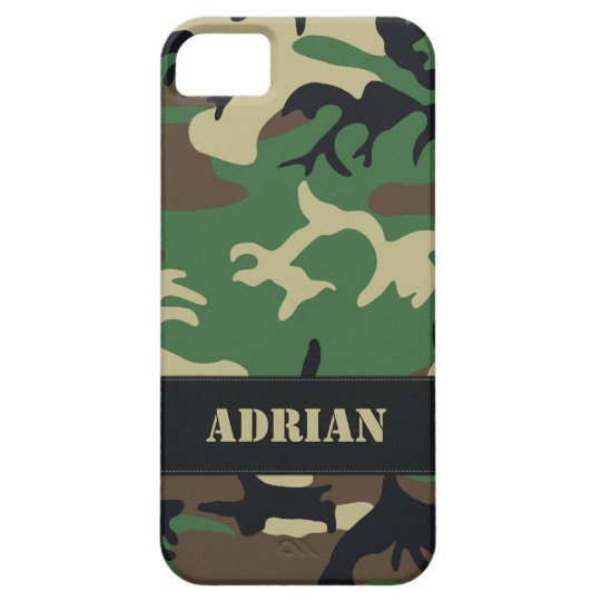 Customisable Military Camo Barely There iPhone 5 Case