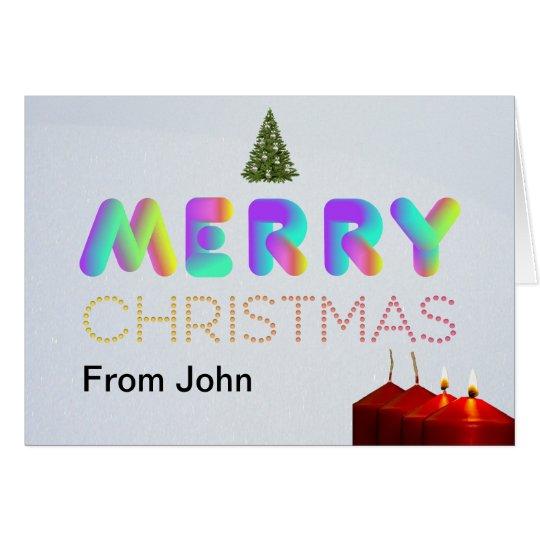 Customisable, Modern & Colourful Christmas card