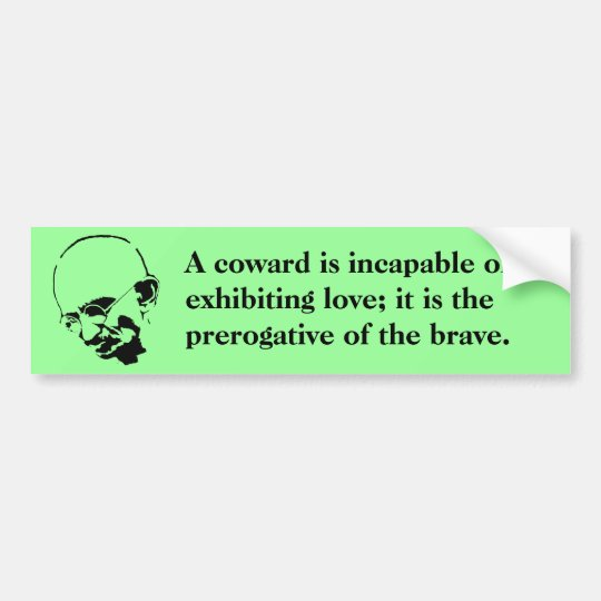 Customisable Mohandas Gandhi Quote Bumper Sticker