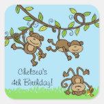 Customisable Monkey Around Stickers