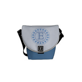 Customisable Monogram Blue Mini-Messenger Bag Courier Bags