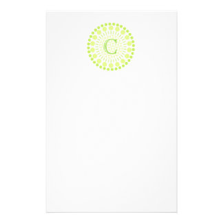Customisable Monogram Circles Letterhead