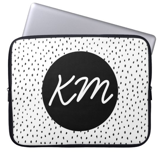 Customisable Monogram Doodle Spot Laptop Sleeve