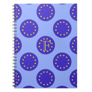 Customisable Monogram EU/Brexit Spiral Notebook