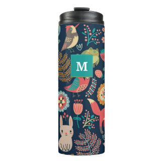 Customisable Monogram Forest style Thermal Tumbler