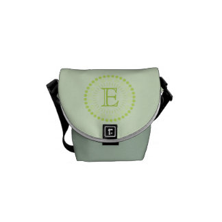 Customisable Monogram Green Mini-Messenger Bag Messenger Bag