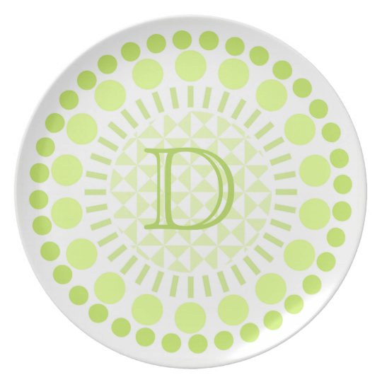 Customisable Monogram Melamine Plate